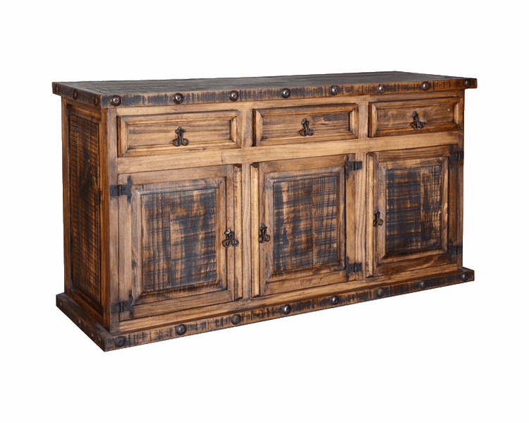 Old West Rustic Buffet Rustic Buffet Kitchen Buffet Cabinet Wood Buffet