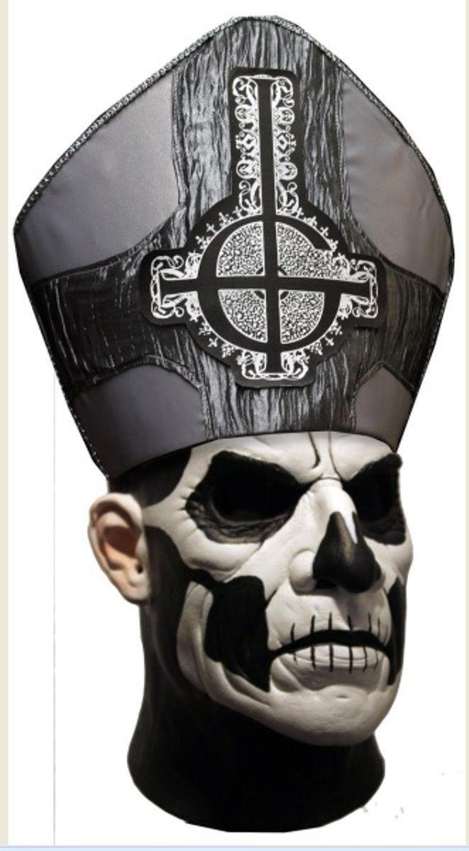 Trick or Treat Studios Papa Emeritus II Deluxe Adult Latex Mask Ghost