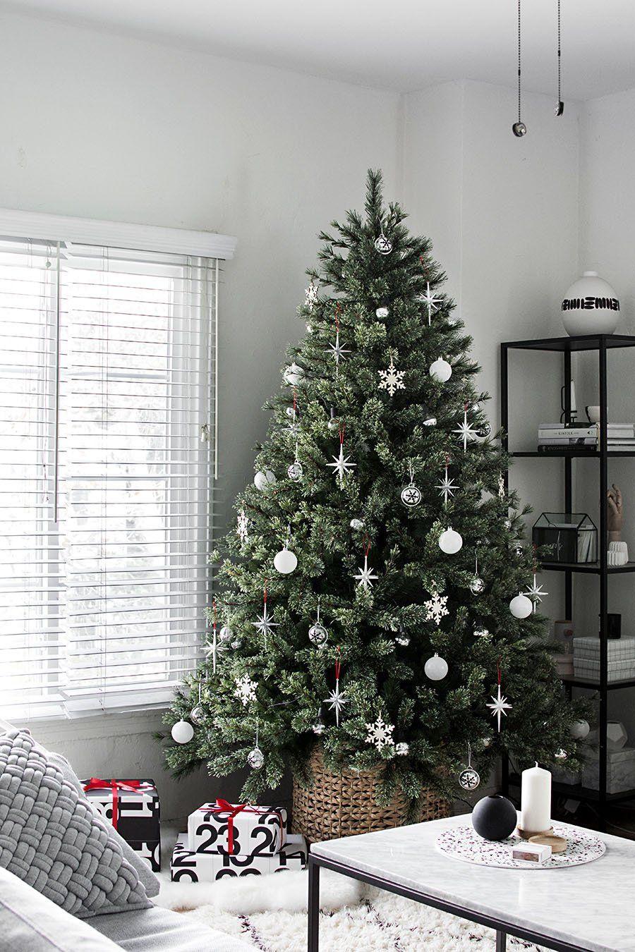 Modern Minimal Christmas Tree Choinki Boze Narodzenie Dekoracje Swiateczne