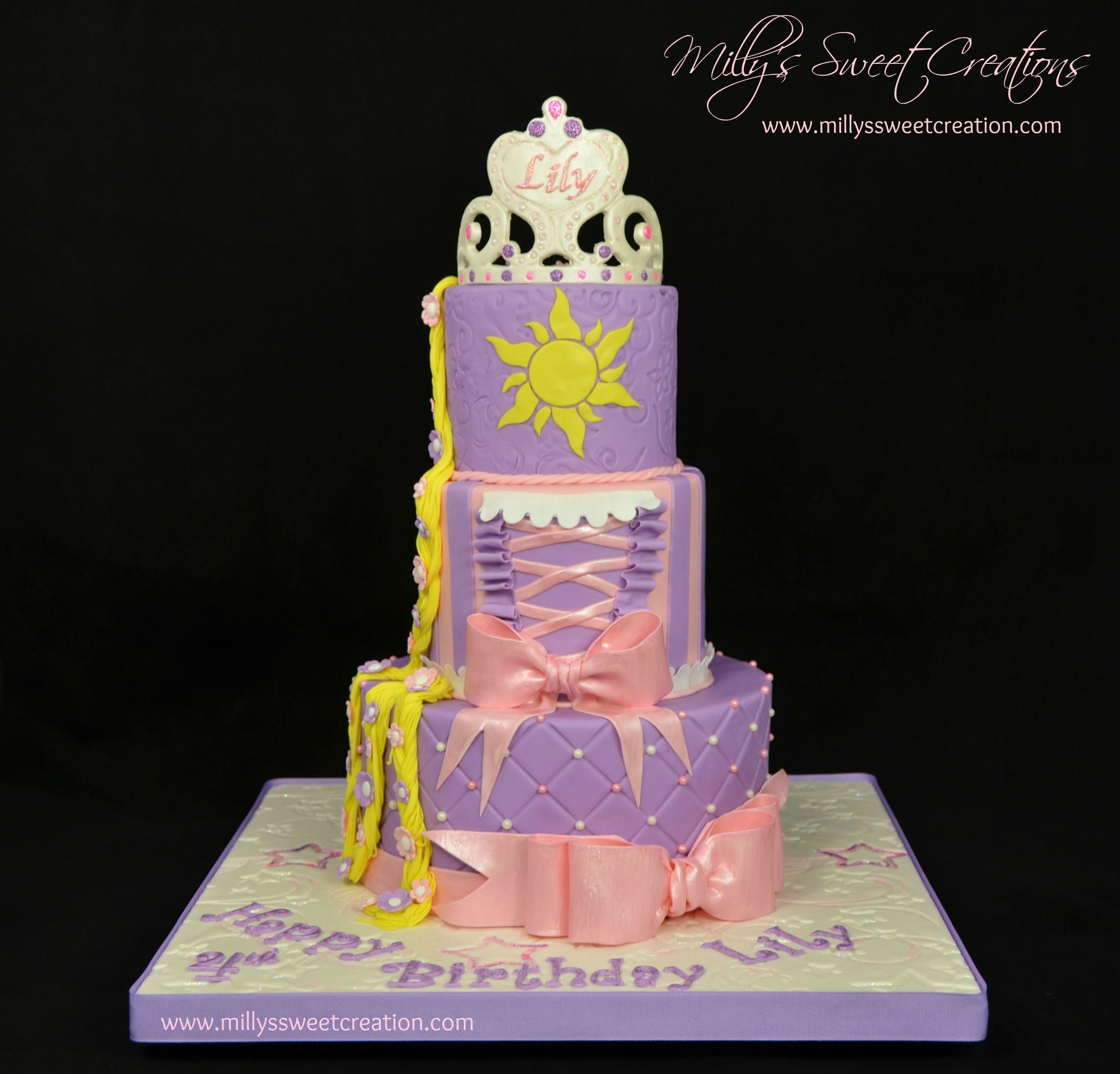 Tangled Rapunzel Themed Birthday Cake Millys Sweet Creations