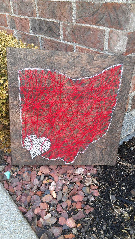 Cincinnati Reds String Art Cincinnati Ohio by