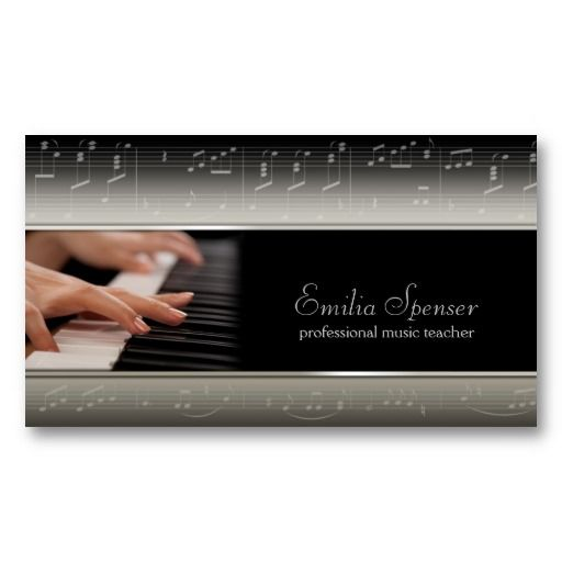 Professional piano music teacher card teacher business cards professional piano music teacher business card template cheaphphosting Image collections
