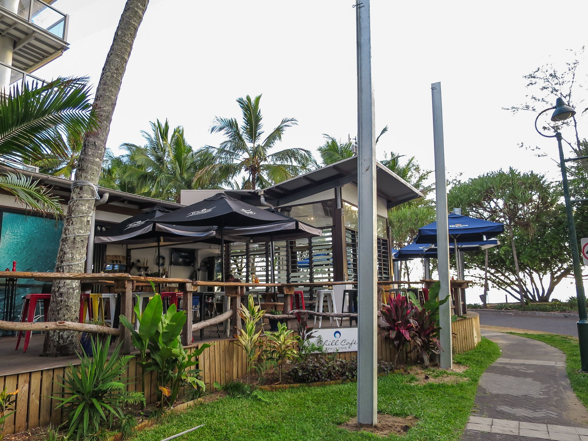 So many choices for breakfast in Palm Cove, even a picnic on the beach!