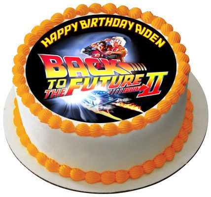 Admirable Back To The Future Nr2 Edible Cake Topper Cupcake Toppers Funny Birthday Cards Online Alyptdamsfinfo