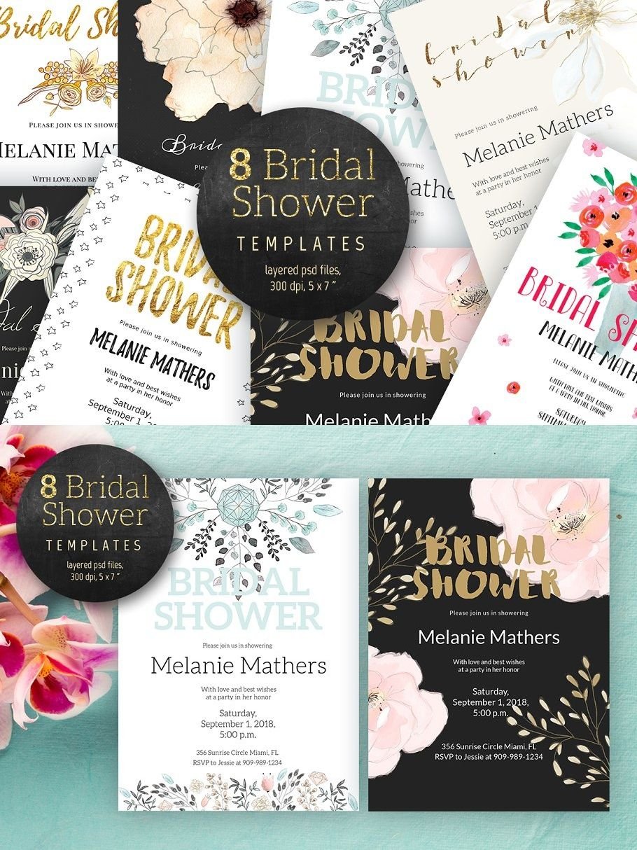 Bridal Shower Pack Bridal Shower Invitations Bridal Shower