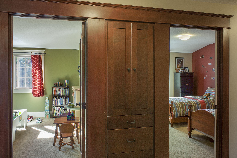 Hallway storage furniture  Hallway  builtin storage stained wood cabinets connection