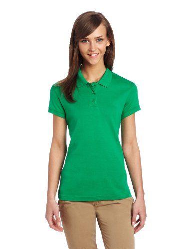 womens green polo shirt