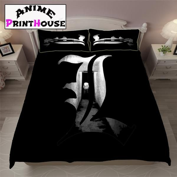death note logo blanket sheets covers logo model death note