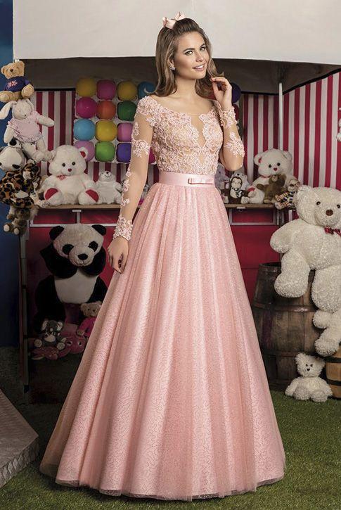 0f01963fb2 Vestido 15 anos Cotton Candy 06 Center Debutantes Rosa 2 em 1   Vestido  curto-longo