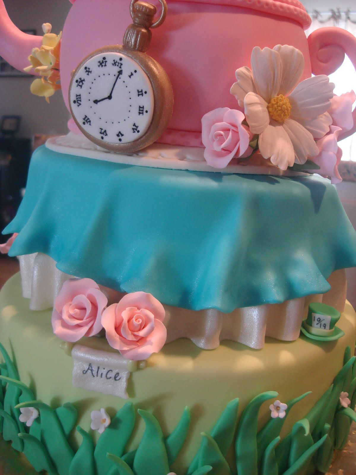 High Quality Alice In Wonderland Cakes | An Alice In Wonderland Inspired Baby Shower Cake