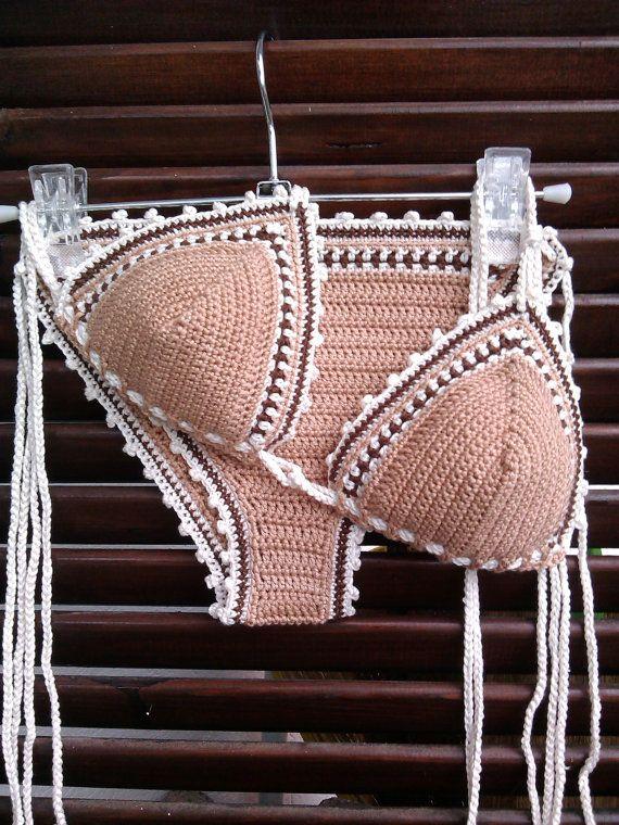 077fdca9e4f3e Deborah Bikini Triangle Crochet Bikini by GoodMoodCreations No pattern. ..  inspiration only