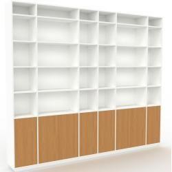 Photo of Regalsystem Weiß – Flexibles Regalsystem: Türen in Eiche – Hochwertige Materialien – 306 x 258 x 35