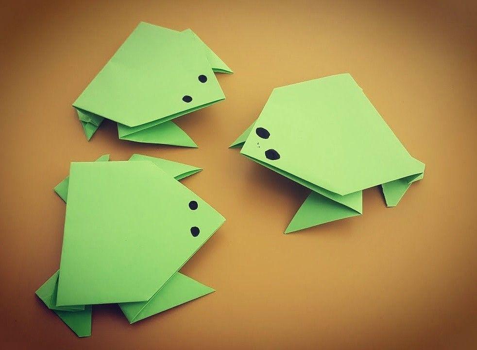 En esta ocasión os enseñaré a hacer una rana saltarina de papel con ...