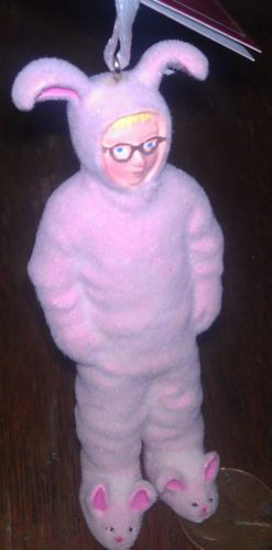 A Christmas Story Ralphie In Pink Bunny Suit XMAS Ornament Ralphy