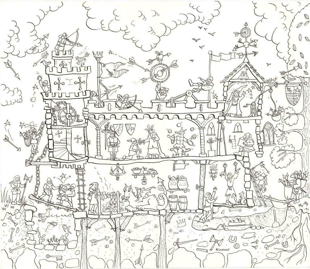 Extra Large Colouring Poster ~ Children/'s Art and Craft Colour In Fantasy Poster