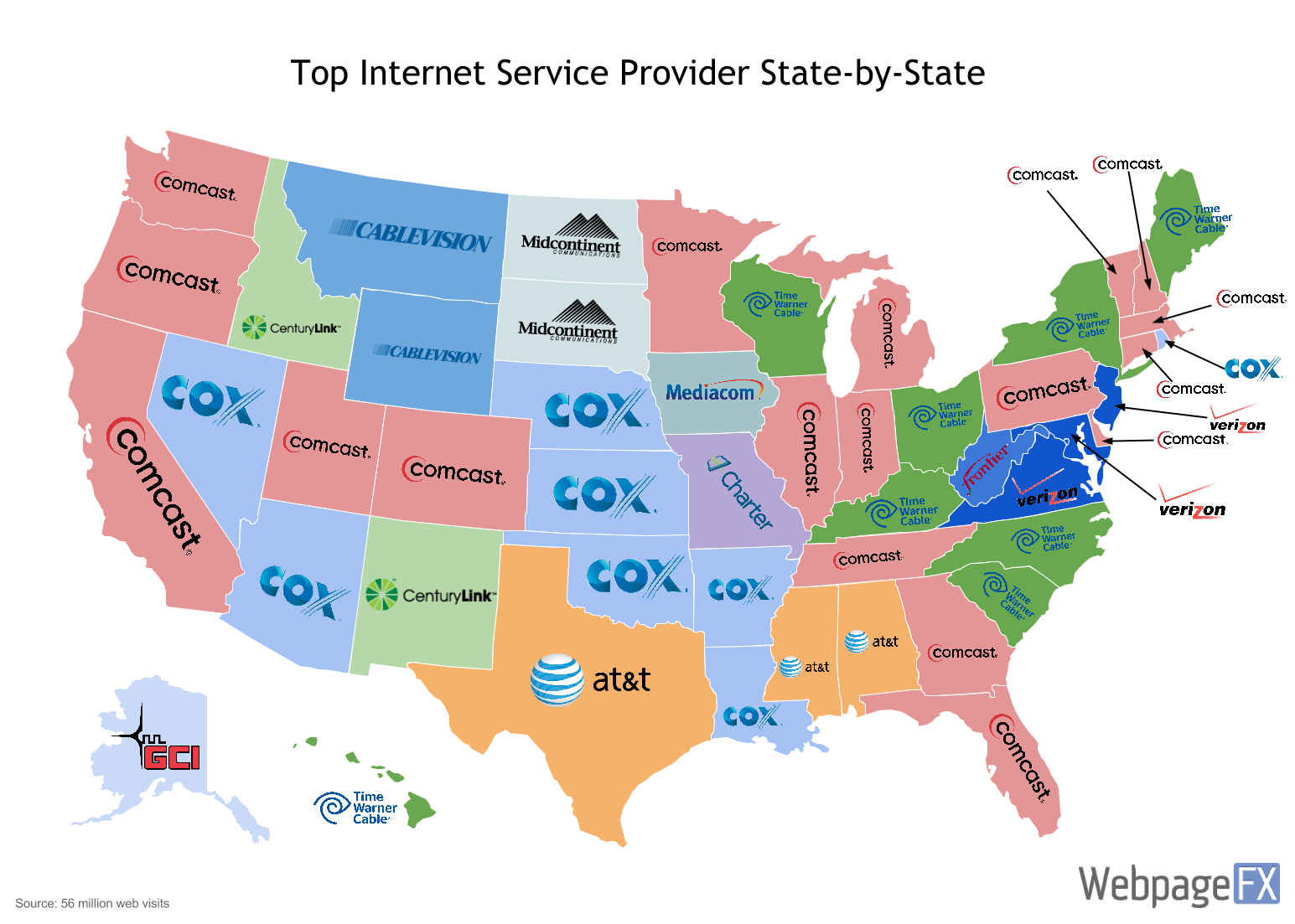 Maps That Explain The Internet Top Internet Providers - Maps of us over time