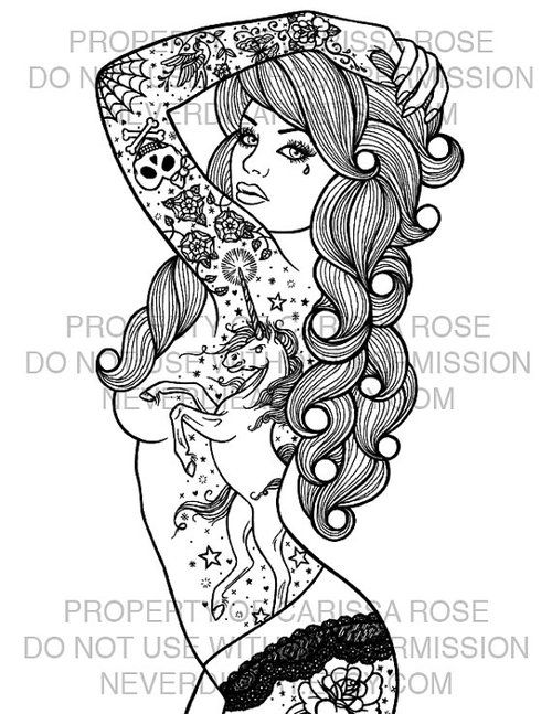 Pin Up Girl Coloring Pages | more stuff | Pinterest | Girls