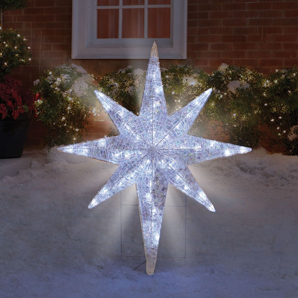 Star Of Bethlehem Outdoor Light Outdoor lighted star of bethlehem httpafshowcaseprop the prismatic star of bethlehem light show hammacher schlemmer regarding measurements 1000 x 1000 outdoor lighted star of bethlehem lighting the surround workwithnaturefo