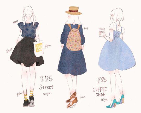 Miyas Illustration Arteu ファッションイラストファッション