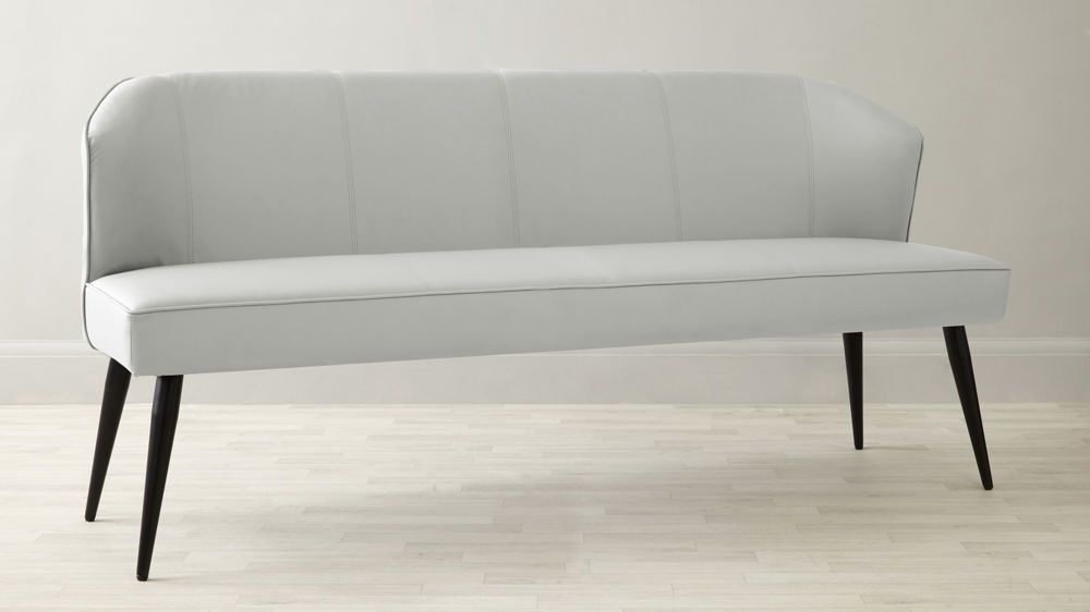 White Four Seater Dining Bench With Back Rest Uk