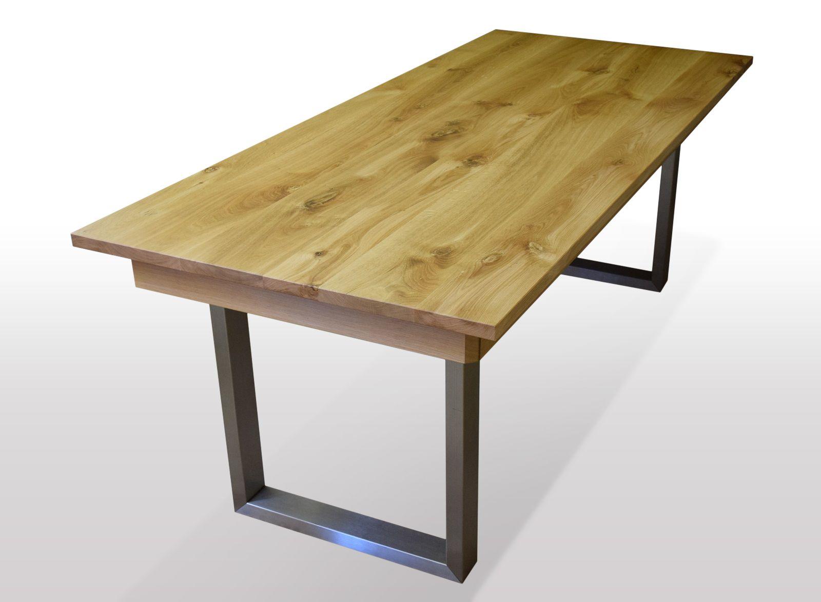 Tisch Wildeiche massiv Breite 110cm / Länge wählbar (mit