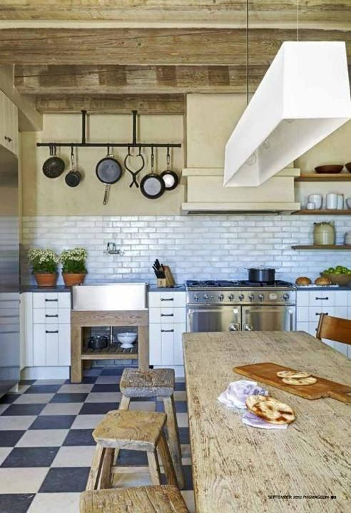 Cute kitchen, mixing modern with ethnic styles
