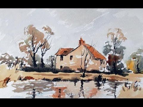 How To Paint A Pen And Wash In Loose Watercolour Youtube Pen