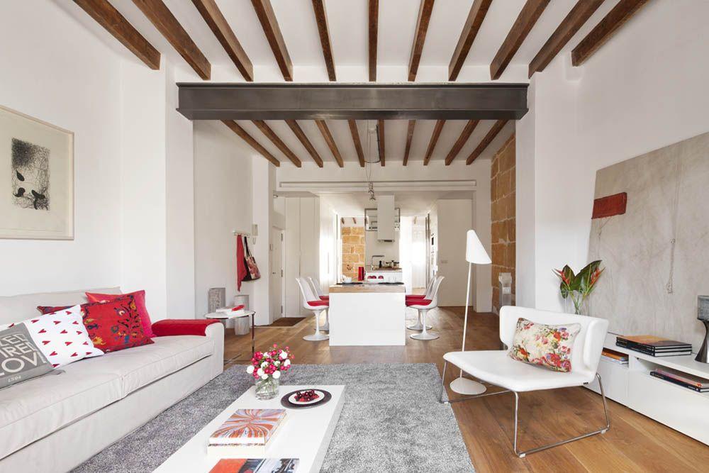 Decoracion #Contemporaneo #Comedor #Cocina #Sala de estar ...