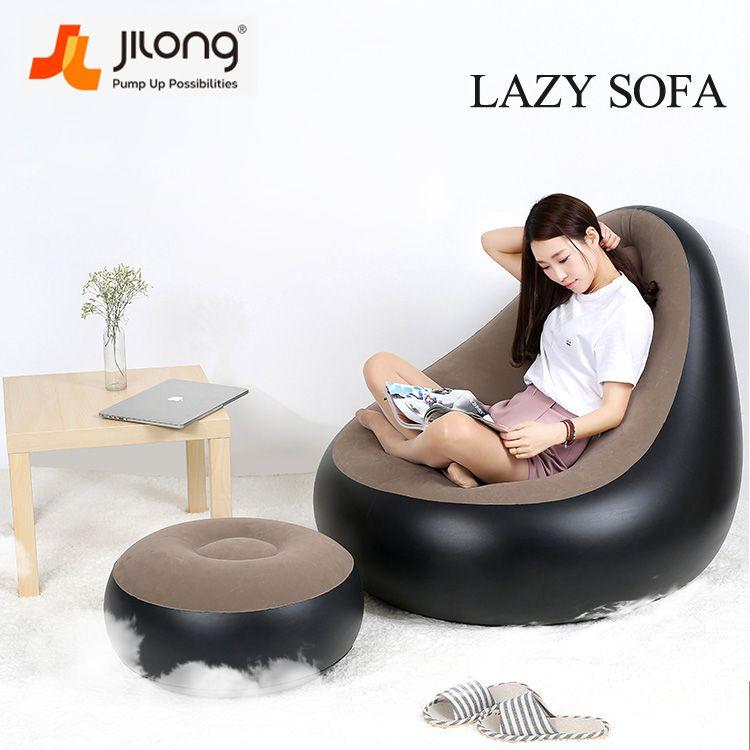 Jilong portable creative pvc rápido inflable comba sofá cojín silla ...