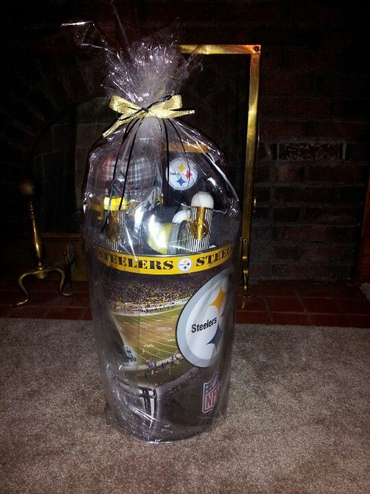 3ca47afb Steelers Gift Basket | Gifts From A Virgo | Steelers gifts, Gift ...