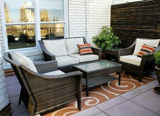 Sichtschutz für Balkon aus Bambus Designideen für einen