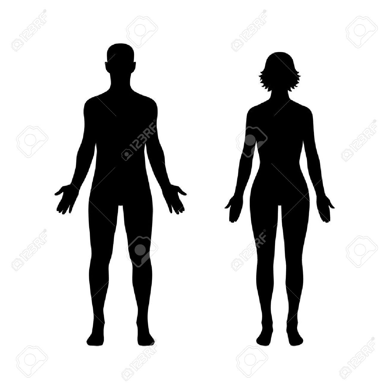 Man And Woman Human Body Flat Icon For App And Website Royalty Flat Icon Human Body Human Silhouette