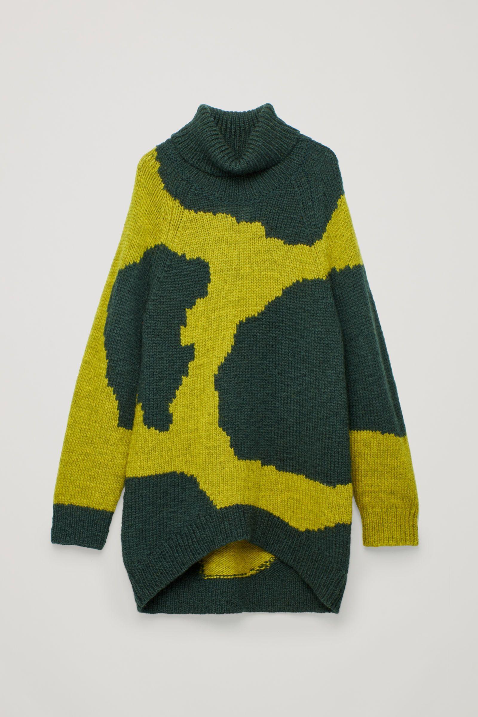 COS   Intarsia wool roll-neck jumper   Fashion   Knitting, Knitwear ... 442a6410e5c4