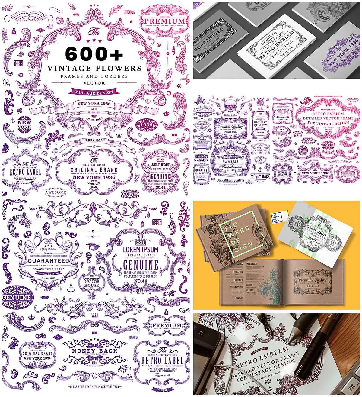 Vintage Frames And Decorative Emblems Collection Cgispread Wedding Cards Wedding Card Templates Free Wedding Invitation Templates