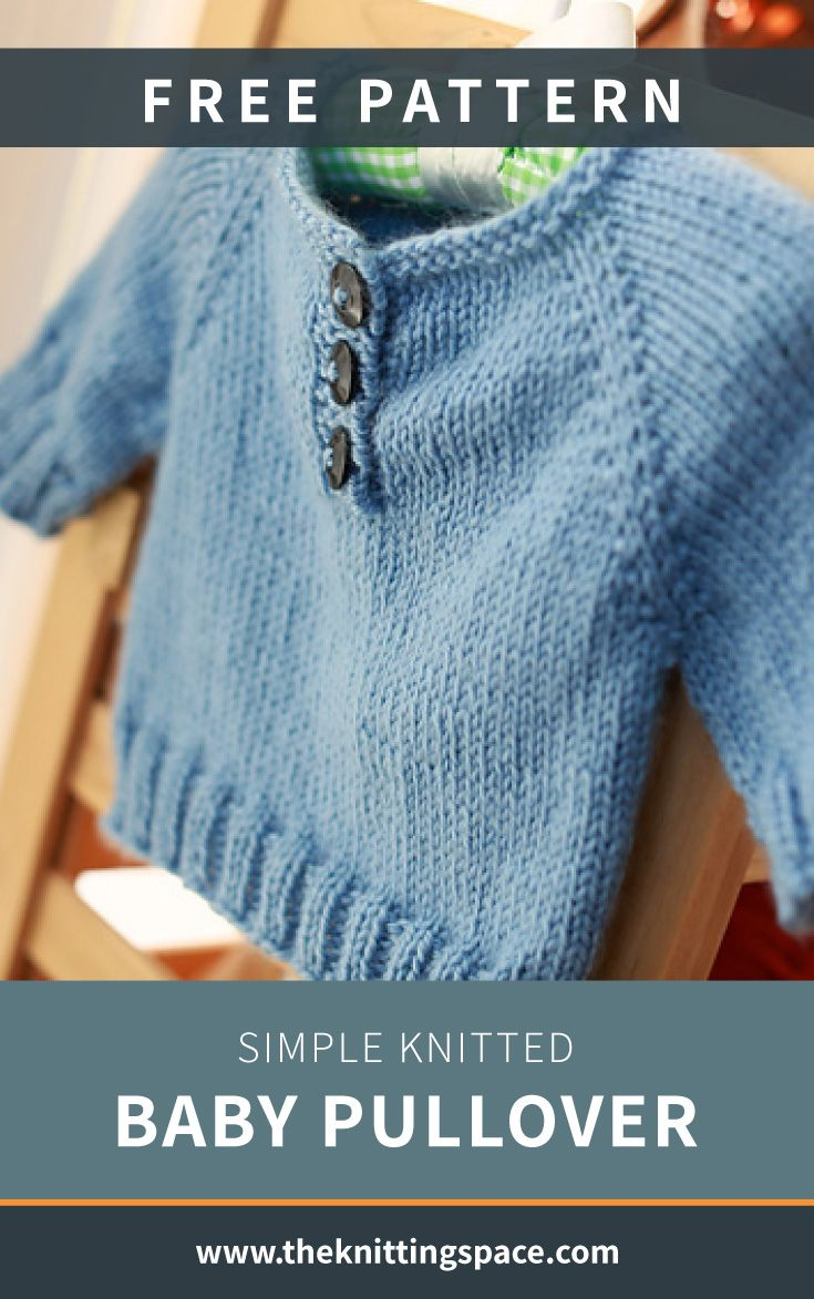 Simple Knitted Baby Pullover [FREE Knitting Pattern]