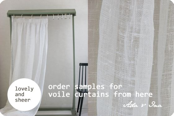Cotton Voile Curtains - Rooms