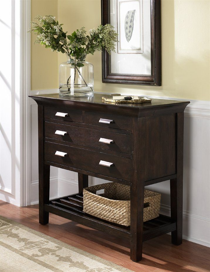 Entry Foyer Chests : Hammary t  urban flair hall chest entry table