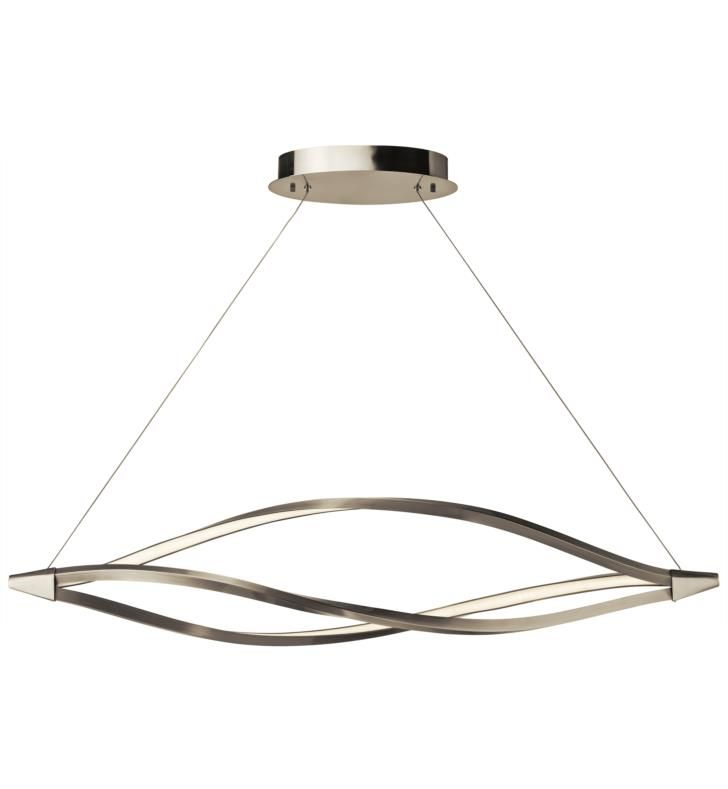 Elan lighting 83390 meridian 1 light 53 1 4 led linear pendant in brushed