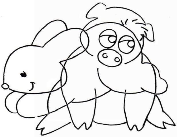 Printable worksheets for kids Interlaced Drawings 7