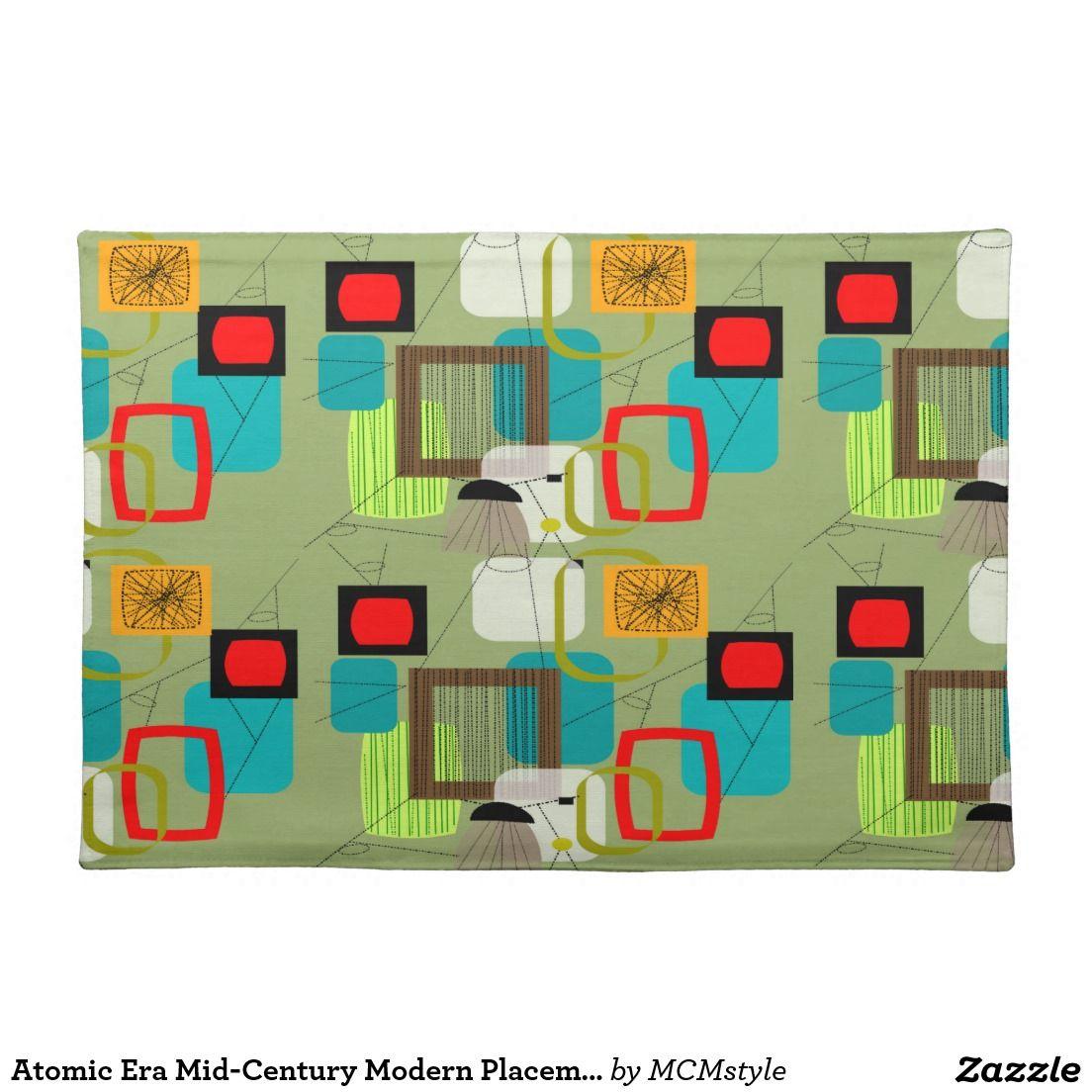 Atomic Era Mid Century Modern Placemats 8