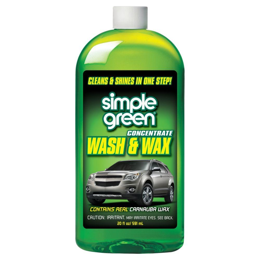 Car Wash And Wax >> Simple Green 20 Oz Car Wash And Wax Case Of 6 Water