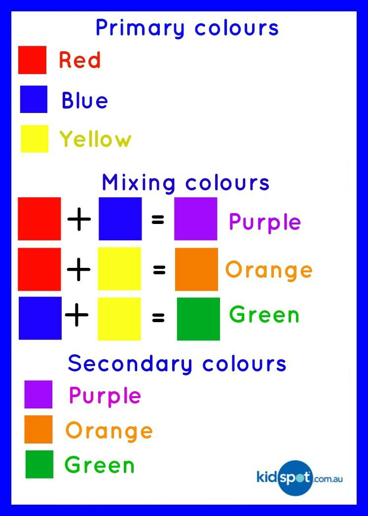 Learning About Primary Colours Color Mixing Chart Oil Pastel Color Mixing