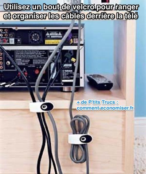 Marre Des Cables Emmeles Derriere La Tele Voici La Solution Petits Trucs Organisation Maison Astuce Rangement Et Rangement