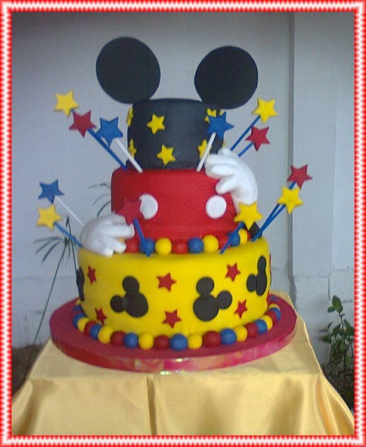 Decoraciones para fiestas infantiles de mickey buscar for Decoracion de tortas infantiles