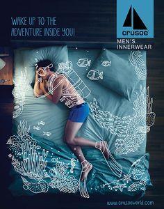 Crusoe Men's Innerwear Campaign on Behance intervención con ilustración Carry-On…