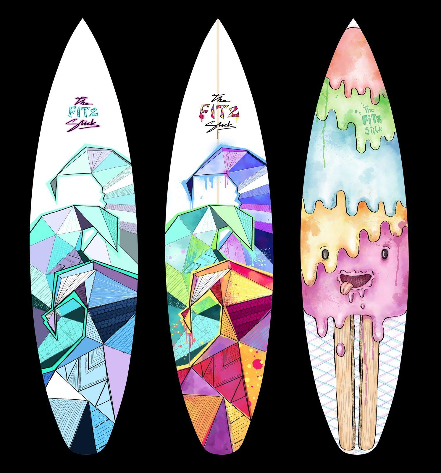 Roxy Surfboards for Girls   Red Bull Design Sally's Board ...