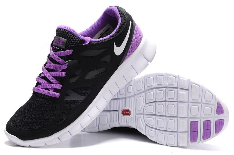 nike free run 2 black and purple