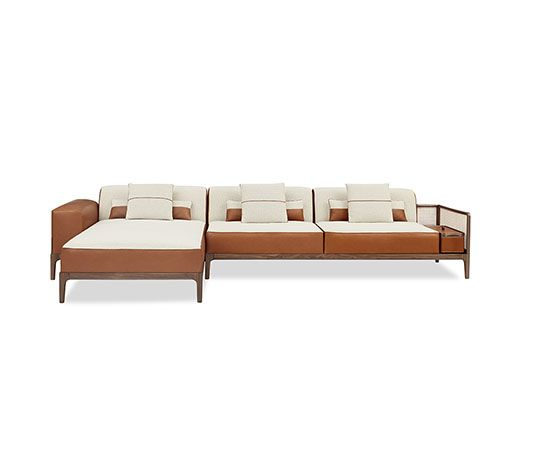2 seater sofa Hermes 2 seater sofa in Canaletto walnut with cane