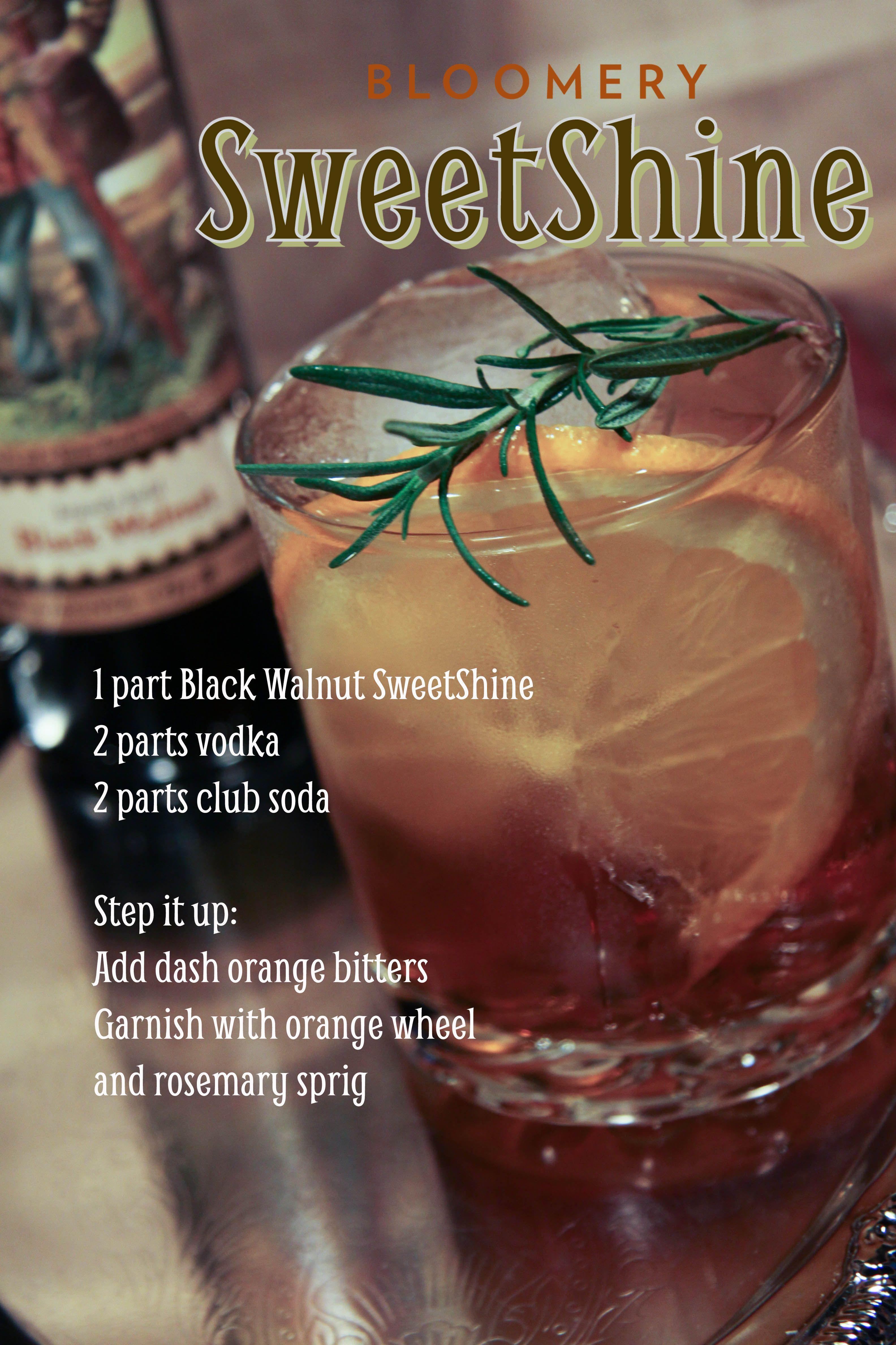 SweetShine, cocktail, moonshine, vodka, mixology, Black