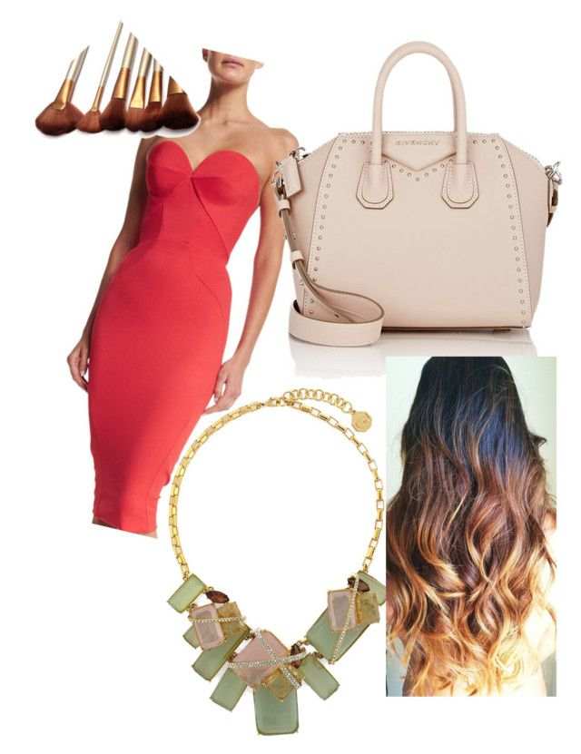 """RED WEEK"" by danna0212 ❤ liked on Polyvore featuring beauty, Zac Posen, Louise et Cie and Givenchy"